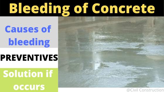 Bleeding of concrete